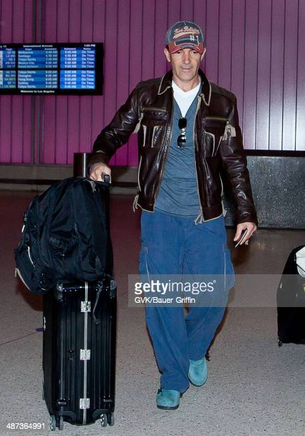 Antonio Banderas is seen at Los Angeles International Airport on February 13 2013 in Los Angeles California