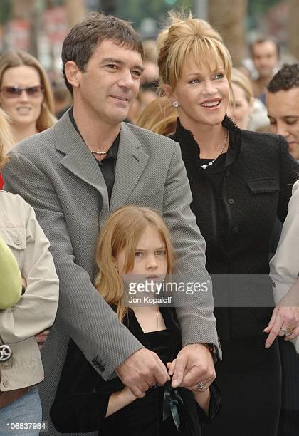 Antonio Banderas Melanie Griffith and daughter Stella Banderas