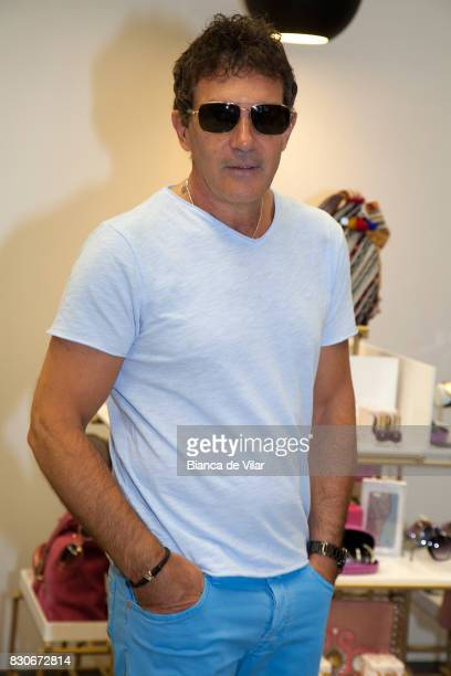 Antonio Banderas presents his new collection on August 12 2017 in Marbella Spain