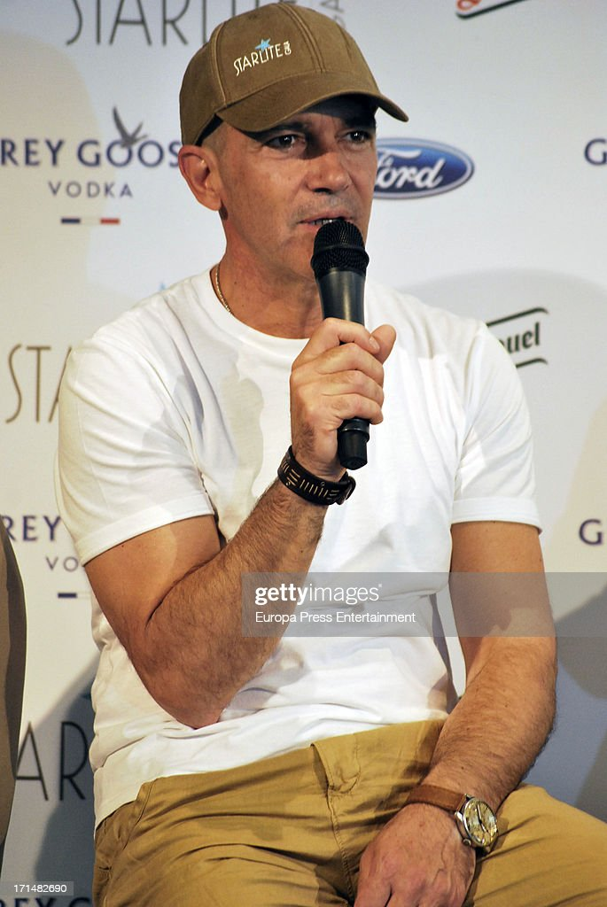 <a gi-track='captionPersonalityLinkClicked' href=/galleries/search?phrase=Antonio+Banderas&family=editorial&specificpeople=171176 ng-click='$event.stopPropagation()'>Antonio Banderas</a> presents 'Starlite Gala' 2013 on June 25, 2013 in Madrid, Spain.