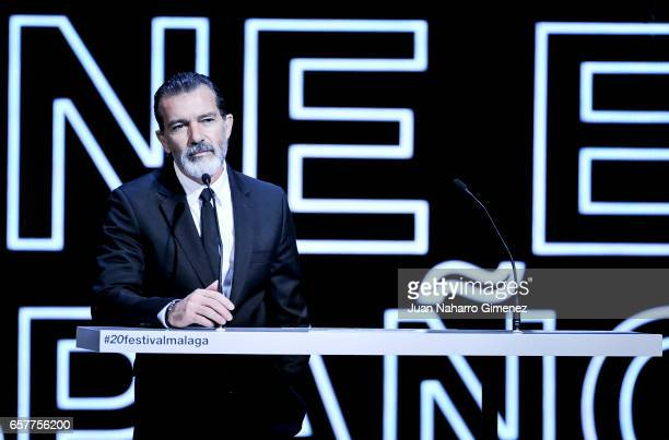 Antonio Banderas receives honor 'Bizanaga de oro' Cinema Awards 2017 on March 25 2017 in Malaga Spain