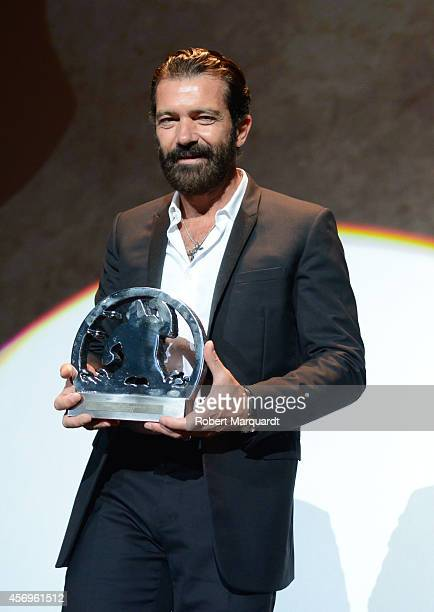 Antonio Banderas receives the 'Gran Premi Honorific Sitges Film Festival 2014' at the Hotel Melia on October 9 2014 in Sitges Spain