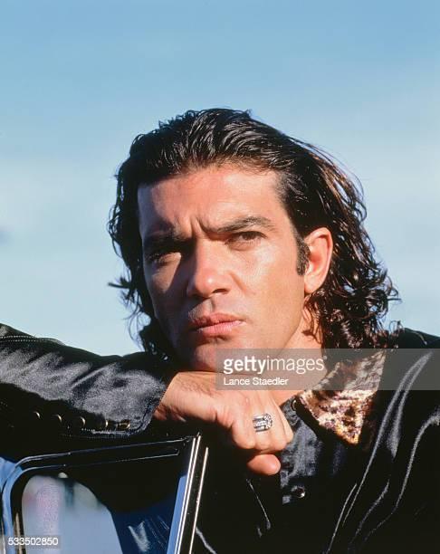 Antonio Banderas Wearing Black Shirt