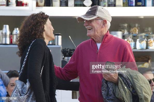 Antonio Banderas's sisterinlaw Maria Angeles and Nicole Kimpel's father are seen going to a restaurant on December 23 2016 in Malaga Spain
