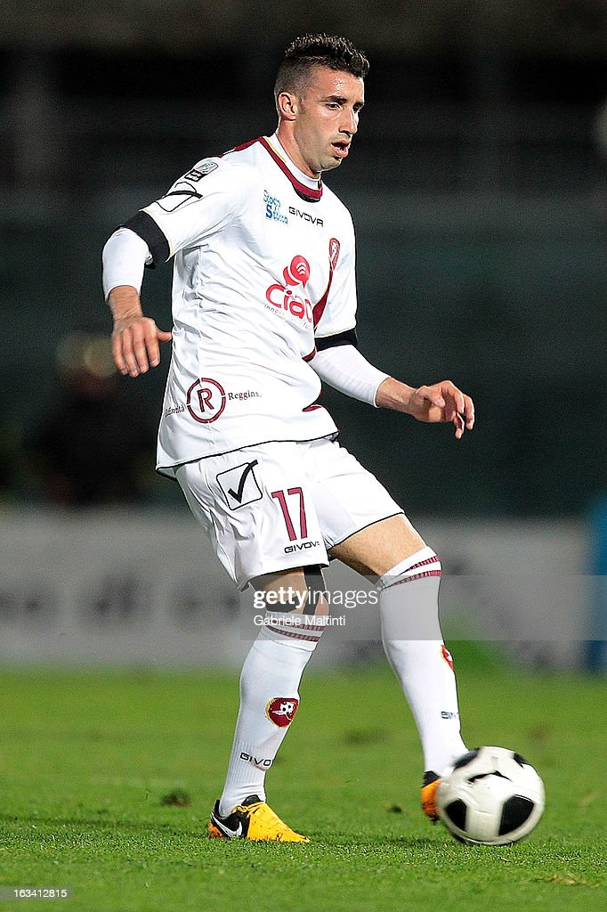 Antonio Barilla' of Reggina Calcio in action during the Serie B match between AS Livorno and Reggina Calcio at Stadio Armando Picchi on March 9, 2013 in Livorno, Italy.