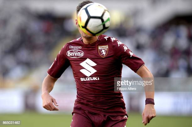 Antonio Barreca of Torino during the Serie A match between Torino FC and AS Roma at Stadio Olimpico di Torino on October 22 2017 in Turin Italy