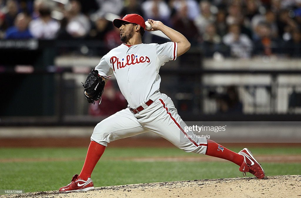 <a gi-track='captionPersonalityLinkClicked' href=/galleries/search?phrase=Antonio+Bastardo&family=editorial&specificpeople=5758440 ng-click='$event.stopPropagation()'>Antonio Bastardo</a> #37 of the Philadelphia Phillies pitches against the New York Mets at Citi Field on September 19, 2012 in the Flushing neighborhood of the Queens borough of New York City.