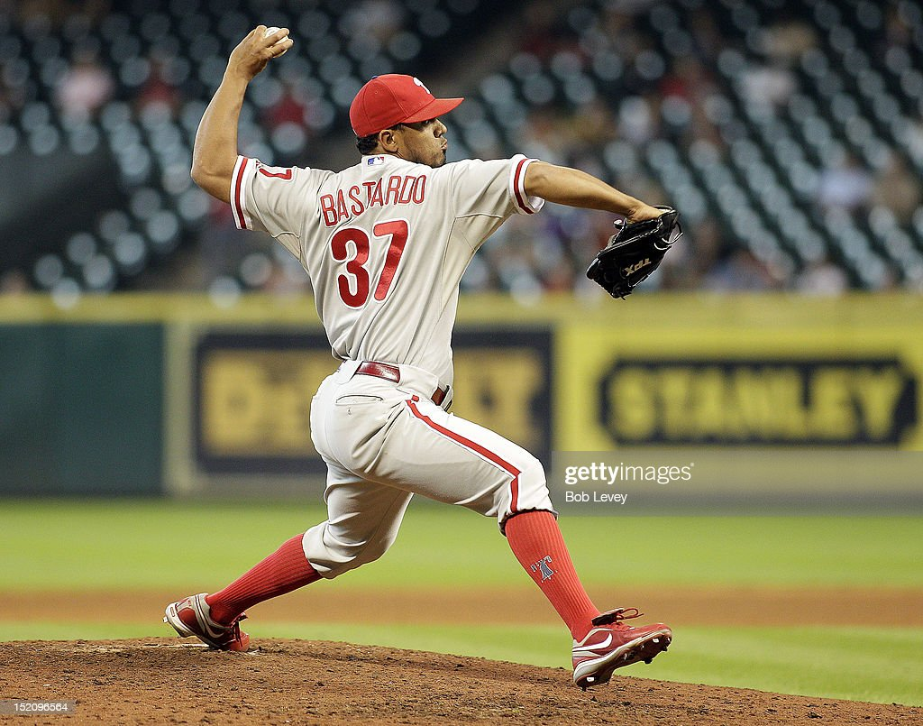 <a gi-track='captionPersonalityLinkClicked' href=/galleries/search?phrase=Antonio+Bastardo&family=editorial&specificpeople=5758440 ng-click='$event.stopPropagation()'>Antonio Bastardo</a> #37 of the Philadelphia Phillies pitches against the Houston Astros at Minute Maid Park on September 16, 2012 in Houston, Texas. Houston wins 7-6.