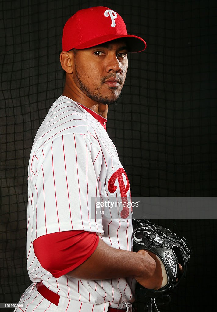<a gi-track='captionPersonalityLinkClicked' href=/galleries/search?phrase=Antonio+Bastardo&family=editorial&specificpeople=5758440 ng-click='$event.stopPropagation()'>Antonio Bastardo</a> #59 of the Philadelphia Phillies poses for a portrait on February 18, 2013 at Bright House Field in Clearwater, Florida.