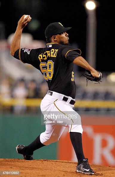 Antonio Bastardo of the Pittsburgh Pirates pitches in the eighth inning during the game against the Milwaukee Brewers at PNC Park on June 8 2015 in...