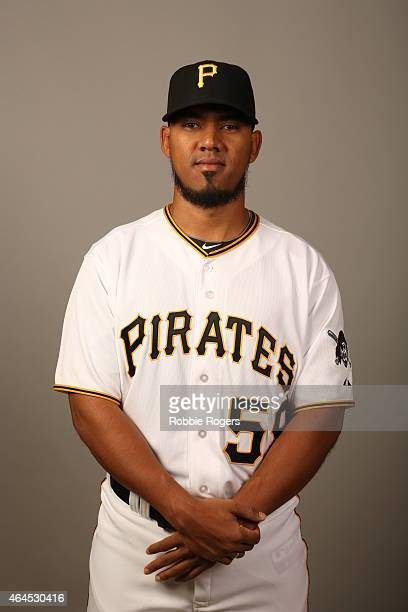 Antonio Bastardo of the Pittsburgh Pirates poses during Photo Day on Thursday February 26 2015 at Pirate City in Bradenton Florida