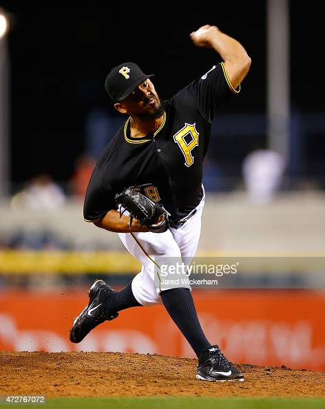 Antonio Bastardo of the Pittsurgh Pirates pitches against the Cincinnati Reds during the game at PNC Park on May 5 2015 in Pittsburgh Pennsylvania