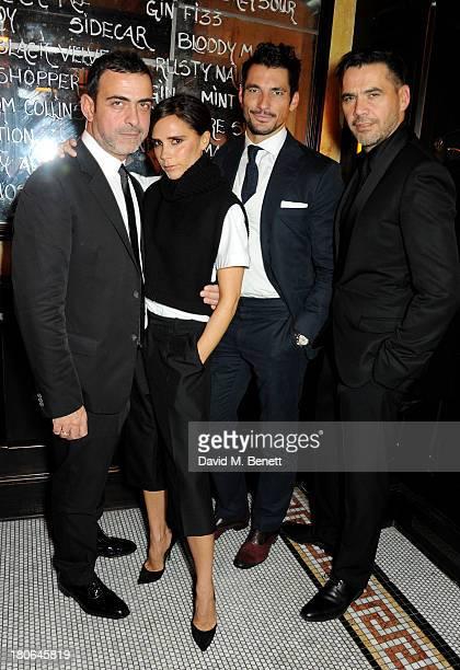 Antonio Berardi Victoria Beckham David Gandy and Roland Mouret attend a private dinner hosted by British Vogue celebrating London Fashion Week SS14...