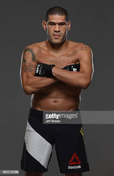 Antonio 'Big Foot' Silva poses for a portrait during a UFC photo session at the Sheraton Rio Hotel on July 28 2015 in Rio de Janeiro Brazil