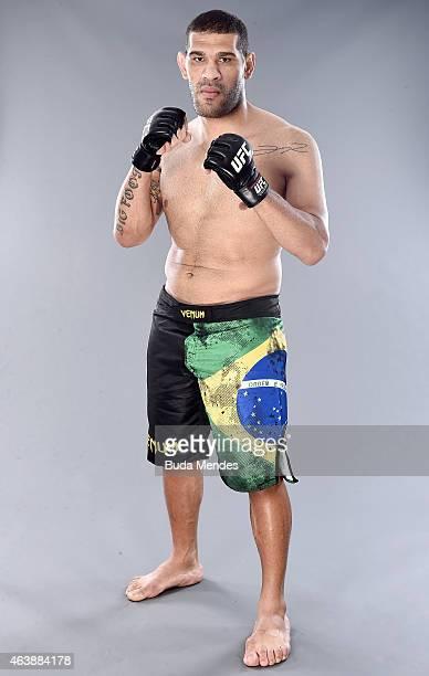 Antonio 'Bigfoot' Carlos Silva of Brazil poses for a portrait during a UFC photo session at the Sheraton Hotel on February 19 2015 in Porto Alegre...