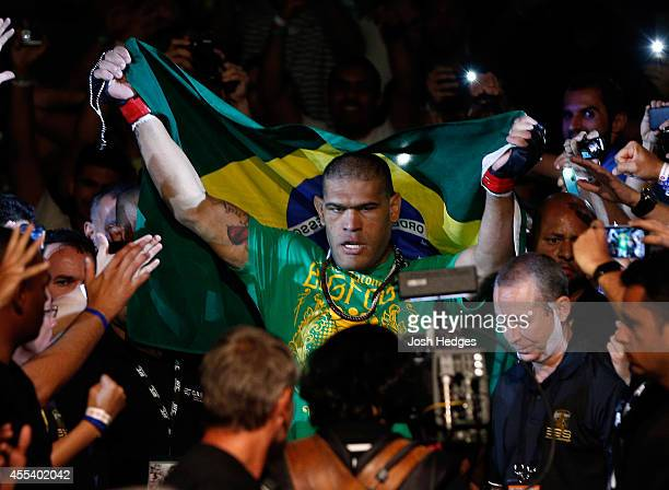 Antonio ''Bigfoot'' Silva of Brazil enters the arena before his heavyweight bout against Andrei Arlovski of Belarus during the UFC Fight Night event...