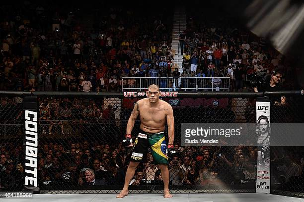 Antonio 'Bigfoot' Silva of Brazil enters the arena before his heavyweight bout against Frank Mir of the United States during the UFC Fight Night at...