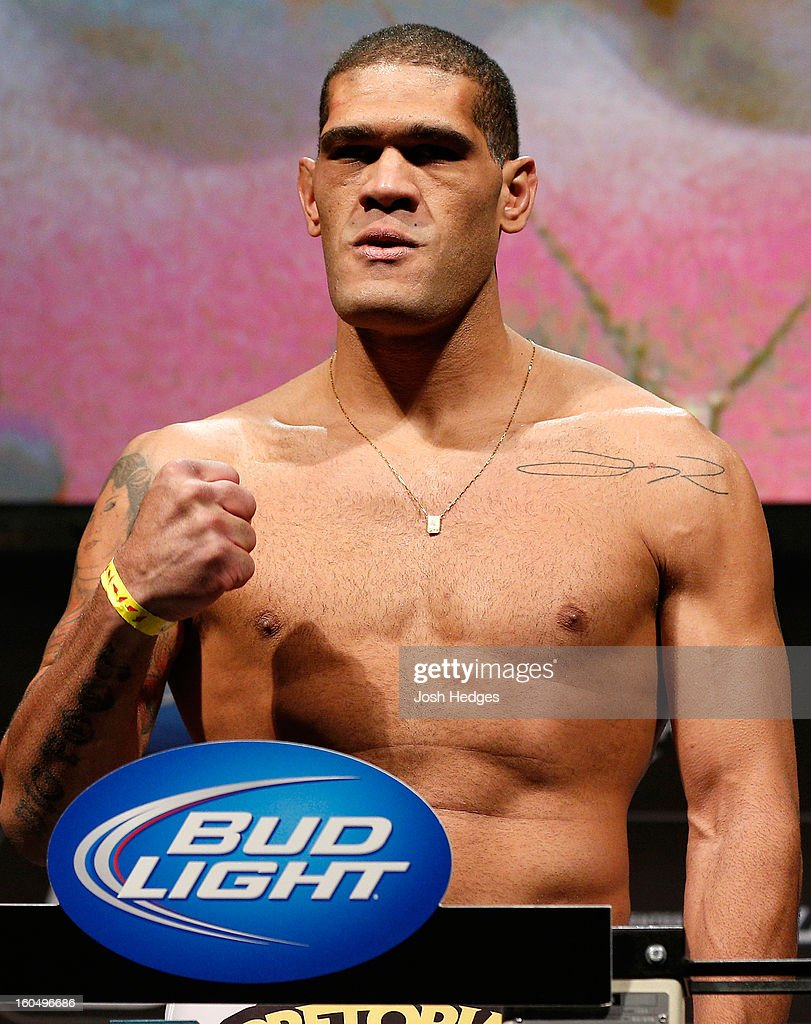 Antonio 'Bigfoot' Silva weighs in during the UFC 156 weigh-in on February 1, 2013 at Mandalay Bay Events Center in Las Vegas, Nevada.