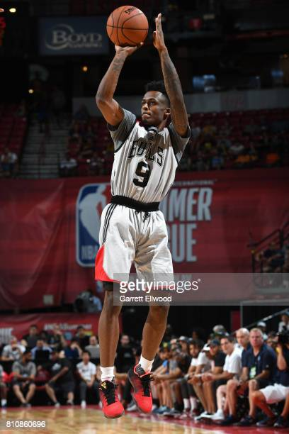 Antonio Blakeney of the Chicago Bulls shoots the ball against the Dallas Mavericks on July 8 2017 at the Thomas Mack Center in Las Vegas Nevada NOTE...