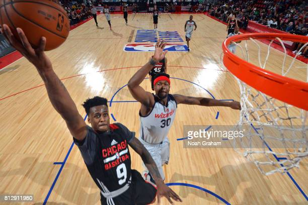 Antonio Blakeney of the Chicago Bulls shoots the ball against the Washington Wizards during the 2017 Summer League on July 11 2017 at Cox Pavillion...