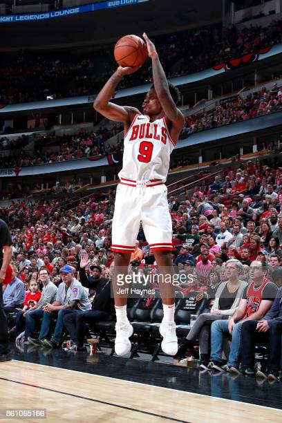 Antonio Blakeney of the Chicago Bulls shoots the ball against the Toronto Raptors on October 13 2017 at the United Center in Chicago Illinois NOTE TO...