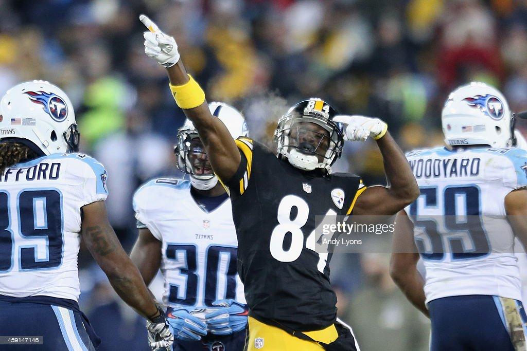 Pittsburgh Steelers v Tennessee Titans : Fotografia de notícias