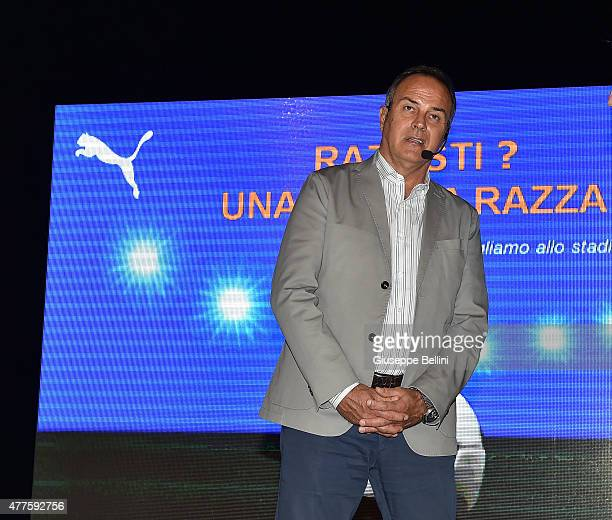 Antonio Cabrini attends during the Italian Football Federation against racism event 'Razzisti Una brutta razza' on June 18 2015 in Cesena Italy