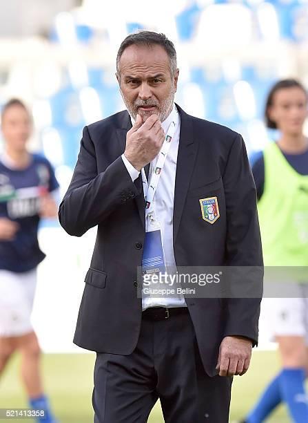 Antonio Cabrini head coach of Italy during the UEFA Women's Euro 2017 qualifier between Italy and Northern Ireland at Mapei Stadium Citta del...