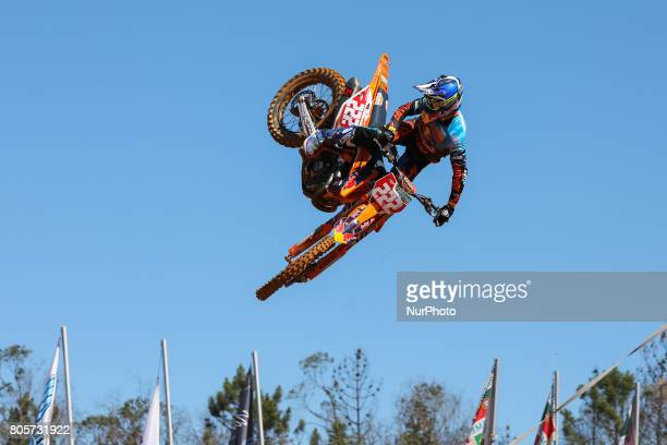 Antonio Cairoli in KTM of Red Bull KTM Factory Racing in action during the Warmup MXGP World Championship 2017 Race of Portugal Agueda July 2 2017