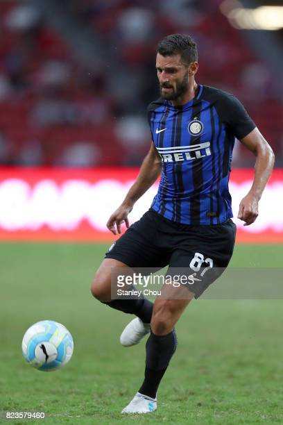 Antonio Candreva of FC Internazionale during the International Champions Cup match between FC Bayern and FC Internazionale at National Stadium on...