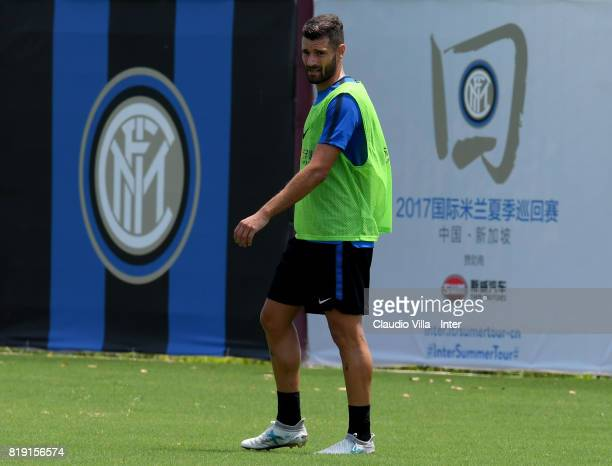 Antonio Candreva of FC Internazionale in action during a FC Interazionale training session at Suning training center on July 20 2017 in Nanjing China