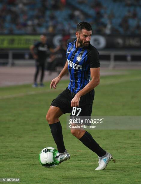 Antonio Candreva of FC Internazionale in action during the 2017 International Champions Cup match between FC Internazionale and Olympique Lyonnais at...