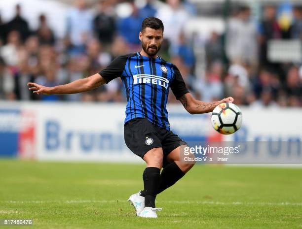Antonio Candreva of FC Internazionale in action during the PreSeason Friendly match between FC Internazionale and Nurnberg on July 15 2017 in Bruneck...