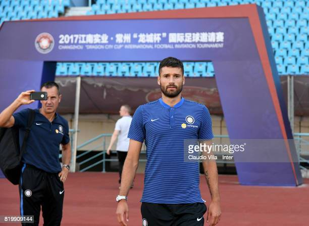 Antonio Candreva of FC Internazionale looks on before the press conference on July 20 2017 in Changzhou China