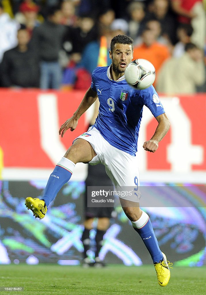 <a gi-track='captionPersonalityLinkClicked' href=/galleries/search?phrase=Antonio+Candreva&family=editorial&specificpeople=4063716 ng-click='$event.stopPropagation()'>Antonio Candreva</a> of Italy during the FIFA 2014 World Cup Qualifier group B match between Armenia and Italy at Hrazdan Stadium on October 12, 2012 in Yerevan, Armenia.