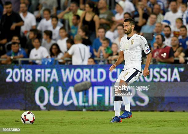 Antonio Candreva of Italy in action during the FIFA 2018 World Cup Qualifier between Israel and Italy at Itztadion Sammy Ofer on September 5 2016 in...