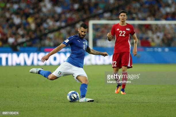 Antonio Candreva of Italy in action during the FIFA 2018 World Cup Qualifier match between Italy and Liechtenstein Italy went on to win the match 50