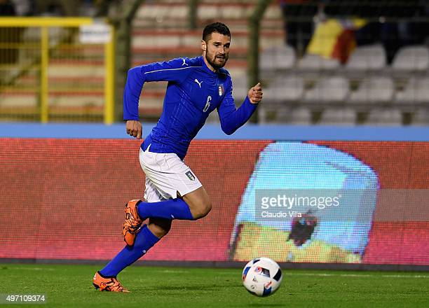 Antonio Candreva of Italy in action during the international friendly match between Belgium and Italy at King Baudouin Stadium on November 13 2015 in...