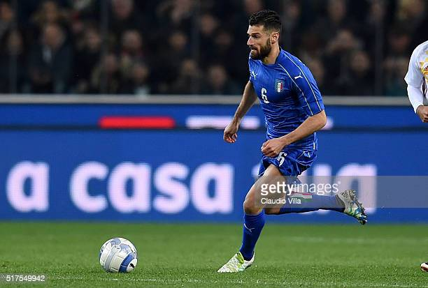 Antonio Candreva of Italy in action during the international friendly match between Italy and Spain at Stadio Friuli on March 24 2016 in Udine Italy