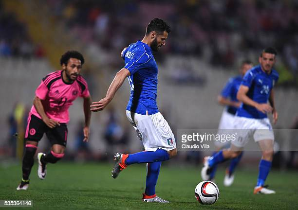 Antonio Candreva of Italy in action during the international friendly between Italy and Scotland on May 29 2016 in Malta Malta