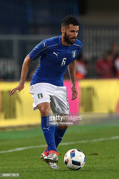 Antonio Candreva of Italy in action during the international friendly match between Italy and Finland on June 6 2016 in Verona Italy