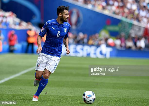 Antonio Candreva of Italy in action during the UEFA EURO 2016 Group E match between Italy and Sweden at Stadium Municipal on June 17 2016 in Toulouse...