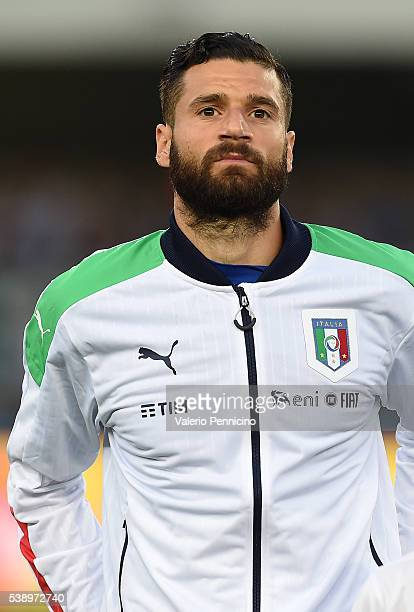Antonio Candreva of Italy looks on during the international friendly match between Italy and Finland on June 6 2016 in Verona Italy