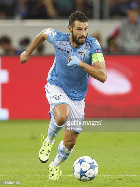 Antonio Candreva of SS Lazio during the UEFA Champions League playoffs match between Bayer Leverkusen and Lazio Roma on August 26 2015 at the...