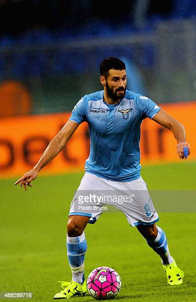 Antonio Candreva of SS Lazio in action during the Serie A match between SS Lazio and Udinese Calcio at Stadio Olimpico on September 13 2015 in Rome...