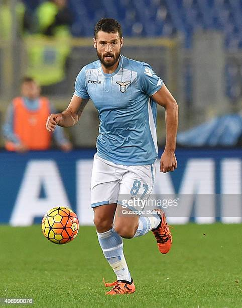 Antonio Candreva of SS Lazio in action during the Serie A match between SS Lazio and AC Milan at Stadio Olimpico on November 1 2015 in Rome Italy