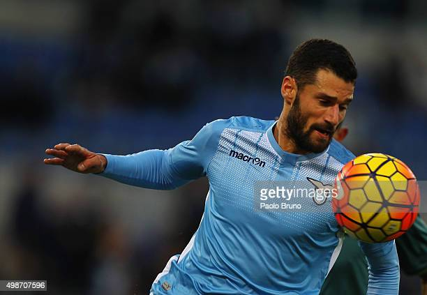 Antonio Candreva of SS Lazio in action during the Serie A match between SS Lazio and US Citta di Palermo at Stadio Olimpico on November 22 2015 in...