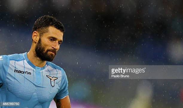 Antonio Candreva of SS Lazio looks on during the Serie A match between SS Lazio and Udinese Calcio at Stadio Olimpico on September 13 2015 in Rome...