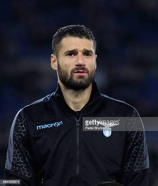 Antonio Candreva of SS Lazio looks on during the UEFA Europa League group G match between SS Lazio and Rosenborg BK at Stadio Olimpico on October 22...