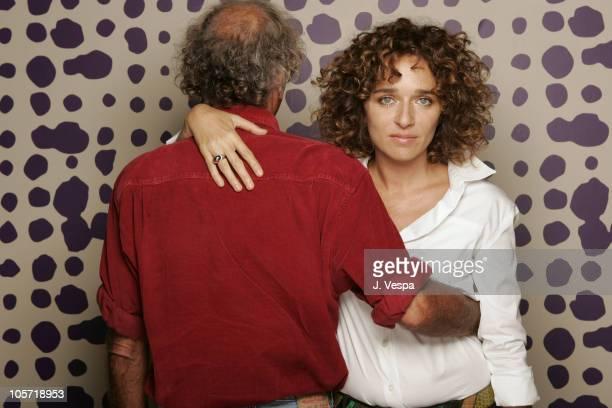 Antonio Capuano director and Valeria Golino during 2005 Toronto Film Festival 'Mario's War' Portraits at HP Portrait Studio in Toronto Canada
